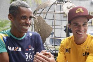Giovani dos Santos e Franck Caldeira