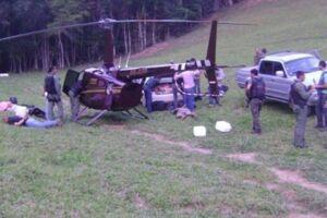 O dono de fazenda onde helicóptero pousou com cocaína foi preso por tráfico