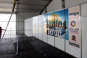 Tendas garantem diversão na orla da Virada até o Carnaval