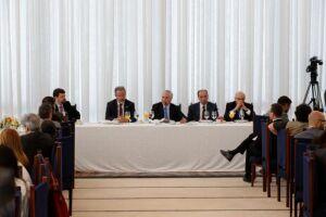 O presidente Michel Temer participa do café da manhã com jornalistas do Comitê do Palácio do Planalto