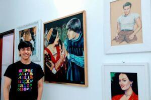 Mostra reúne 20 pinturas que retratam cenas de filmes clássicos