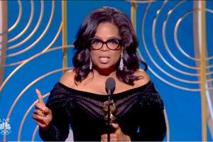 Premiada com o Cecil B. DeMille, Oprah Winfrey fez discurso histórico no Globo de Ouro
