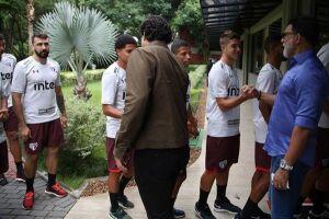 A reapresentação do elenco do São Paulo aconteceu na manhã desta quarta-feira (3) no CT da Barra Funda