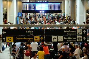 Em voos internacionais, houve aumento de 11,7% em 2017. Na foto, o Aeroporto Internacional de São Paulo