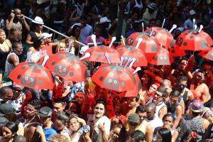 """O """"Bola Preta"""" é um tradicional bloco carnavalesco da cidade e atraí milhares de foliões."""