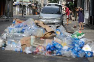 A Comlurb recolheu até momento 216 toneladas de detritos jogados por foliões