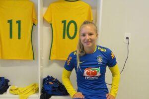 Malu foi convocada mais uma vez para a Seleção Brasileira sub-17