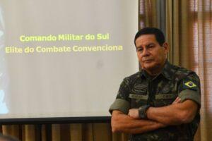 Mourão disse que vai trabalhar na candidatura do presidenciável Jair Bolsonaro