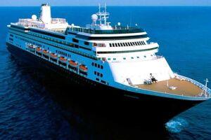 O navio Zaandam estará pela primeira vez em Santos