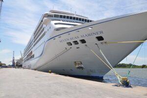 Esta será a única escala do navio Seven Seas Mariner