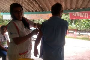 Nesta quinta-feira, uma unidade itinerante foi montada no Vale do Quilombo