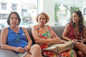 Aldenir Dida Dias, Gabriela Ortega e Vanessa Gonçalves na redação do Diário do Litoral