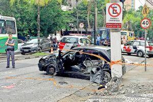 Na manhã de 16 de fevereiro, um motorista de 40 anos morreu após acidente na Avenida Conselheiro Nébias, no Boqueirão, em Santos