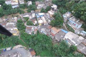 Imagem captada por drone durante a investigação