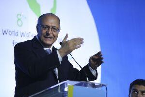 Geraldo Alckmin durante o Fórum Mundial da Água