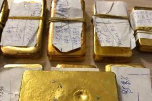 Barras de ouro estavam na bagagem do passageiro que foi preso. Ele mora no Pará