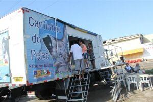 Na segunda-feira, o caminhão estará na Praça 14 Bis (Vicente de Carvalho), das 10 às 17 horas