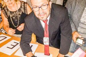 O secretário adjunto de Saúde, Sandro Abreu, participou de cerimônia, no Palácio dos Bandeirantes, em São Paulo, para oficializar o recebimento dos recursos