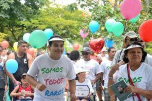 Parentes  e  amigos  de  portadores  de  doenças  raras  e  graves  participam  da  4ª  Caminhada  Minha  Vida  Não Tem  Preço,  no  Parque  do  Flamengo