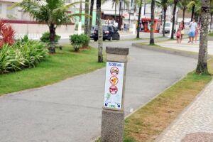 Praia Grande está realizando melhorias na sinalização horizontal nos principais cruzamentos viários das ciclovias da Cidade