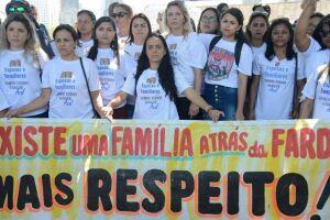 Famílias de militares realizaram protesto no ano passado pela morte de 101 policiais.
