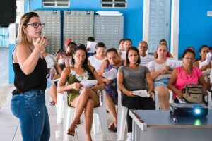 Pela primeira vez a atividade aconteceu no Espaço Cidadão de Boracéia, com uma turma de 20 alunos