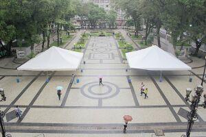 A melhoria faz parte do convênio Revitalização da Praça Mauá 2ª. etapa