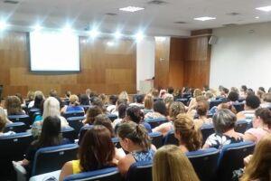 Os participantes puderam compartilhar temas do cotidiano escolar.