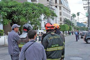 Em Santos, prédios foram evacuados e o Corpo de Bombeiros foi acionado