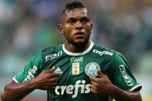 Miguel Borja foi desfalque do Palmeiras na última segunda-feira (16), no empate por 1 a 1 com o Botafogo