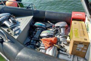Motores de embarcações e aparelho de ar-condicionado, entre outros produtos, foram recuperados em Guarujá