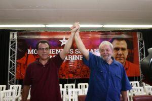 Luiz Marinho (esquerda) é pré-candidato ao governo de São Paulo pelo PT