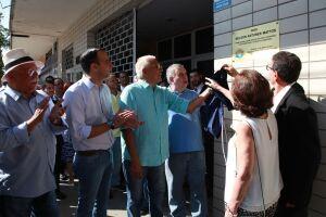 O prefeito Paulo Alexandre Barbosa participou da homenagem