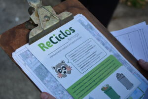 A ação faz parte do Projeto Reciclos