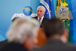 Michel Temer durante cerimônia realizada no Palácio do Planalto