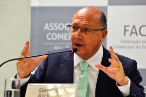 Geraldo Alckmin (PSDB) negou que houve racionamento em São Paulo em 2014