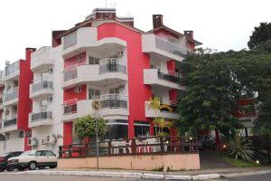 Apart-hotel em Canasvieiras, Florianópolis, onde ocorreu o crime.