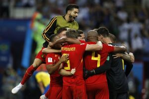 A Bélgica avanças às semifinais da Copa do Mundo