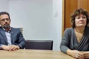O 1° secretário Milton Marcelo Hahn e a conselheira Rosilma Roldan estiveram ontem no Diário do Litoral