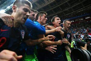 A Croácia venceu a Inglaterra por 2 a 1 nesta quarta-feira