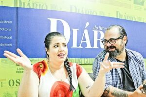 O cineasta Dino Menezes e a contadora Camila Genaro.