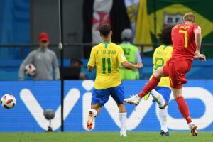 Contra o Brasil, a Bélgica utilizou De Bruyne, que até então vinha jogando como segundo volante à frente de uma linha de três zagueiros, como falso nove