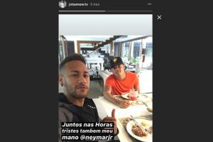 Neymar não publicou nenhuma informação sobre onde esteve nos últimos dias