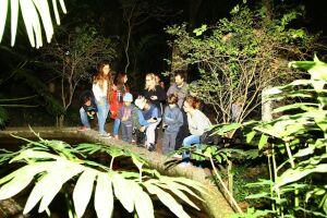 A atividade é promovida pela equipe de educação ambiental do parqu