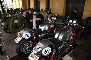 Este ano, a exposição de motos antigas integra a programação do 7º Santos Jazz Festival