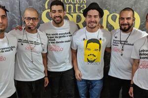 Thiago Martins tem sido uma atração a mais por onde o grupo se apresenta
