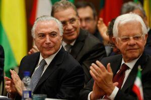 Temer e os demais presidentes e primeiros-ministros dos países-membros da CPLP
