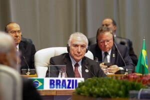 Michel Temer participa da reunião plenária fechada dos chefes de Estado e de Governo do Brics