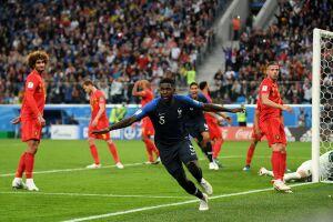 Umtiti marcou o gol da classificação francesa