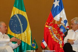 Na manhã desta terça, Temer se reuniu com o presidente chileno, Sebastián Piñera. Ele afirmou que ambos discutiram a possibilidade de aumentar o livre comércio entre Chile e Brasil